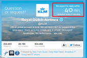 KLM dares to display real-time response schedule to social media queries