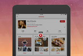 Pinterest outfits iPad app with retooled navigation for iOS 7