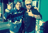 Guy Fieri Films 'DD&D' at New York's Queens Comfort